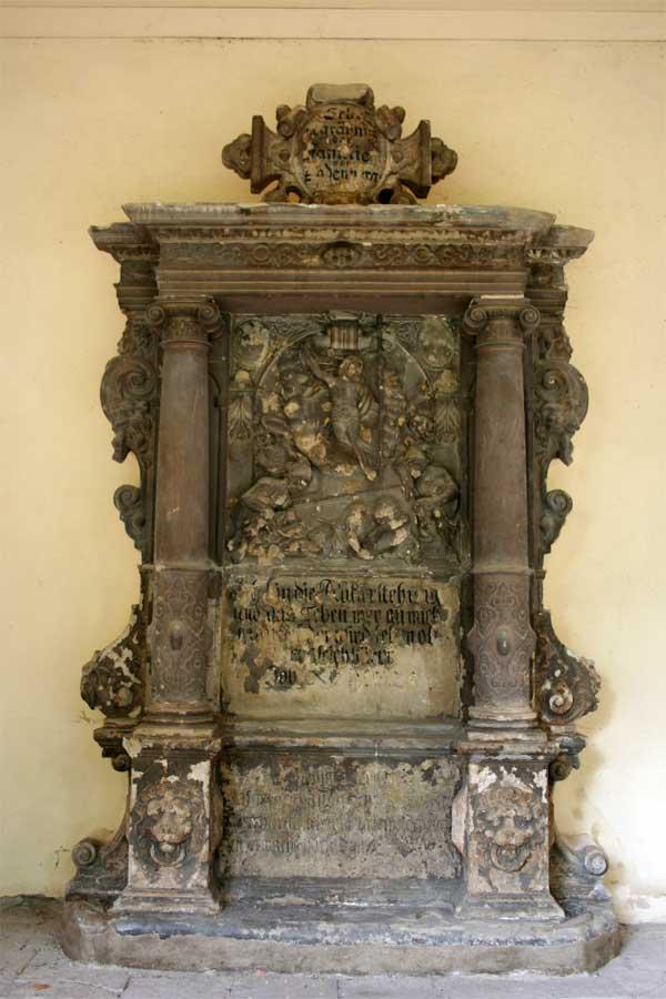 Restaurierung von Sandsteinepitaphen -Renaissancefriedhof - Stadtgottesacker Halle (Saale)