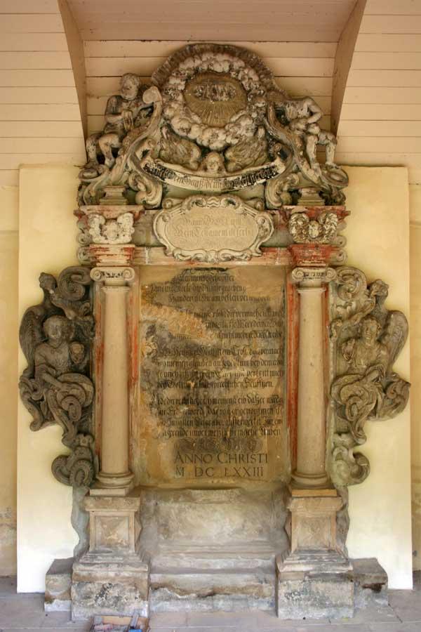 Restaurierung von Sandsteinepitaphen - Renaissancefriedhof - Stadtgottesacker Halle (Saale)