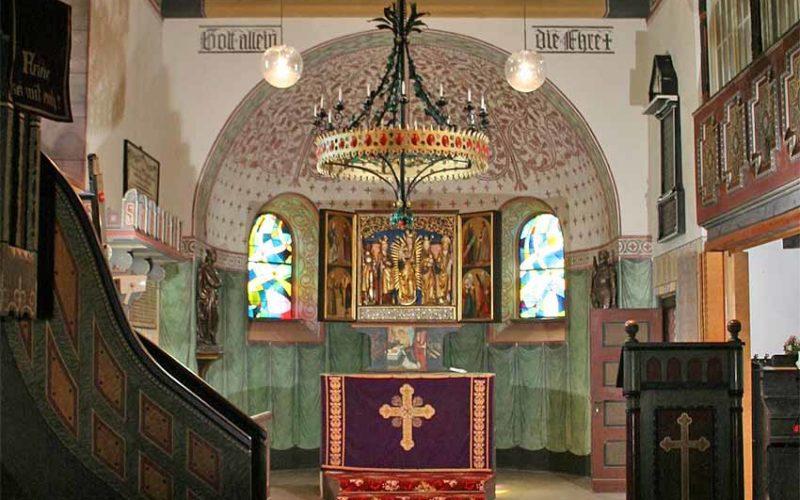 Restaurierung der Chorausmalung - Dorfkirche Kade - Innenraumfassung