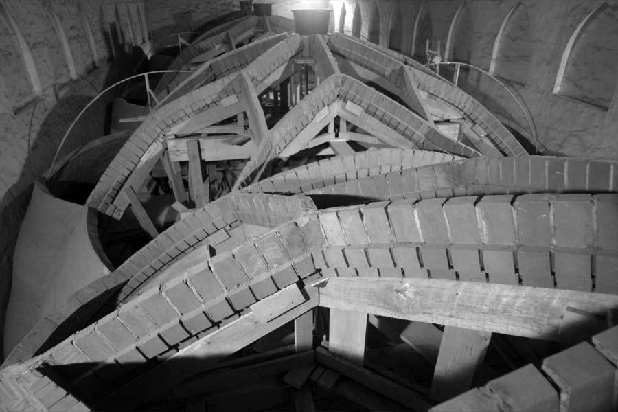 Draufsicht auf das Mittelschiffgewölbe - Stadtkirche Rathenow