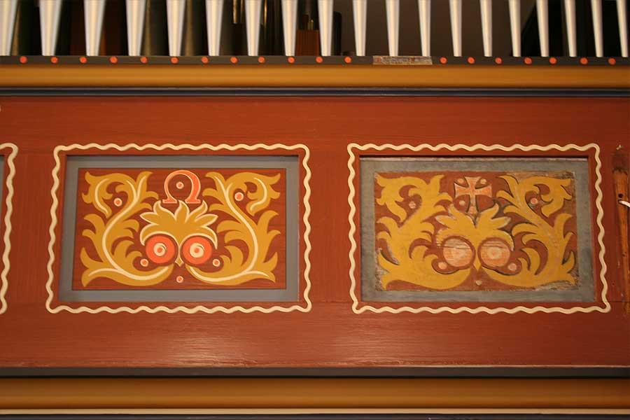 Detailansichten der Ornamentfelder - Stadtkirche Teltow