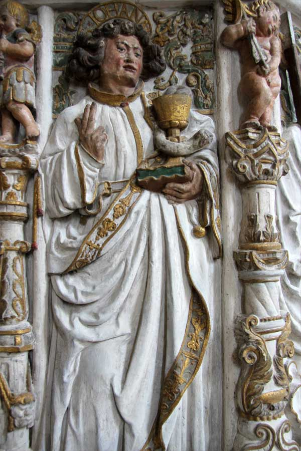 Restaurierung der Renaissancekanzel - Figurenschmuck Endzustand - Dom Halle (Saale)