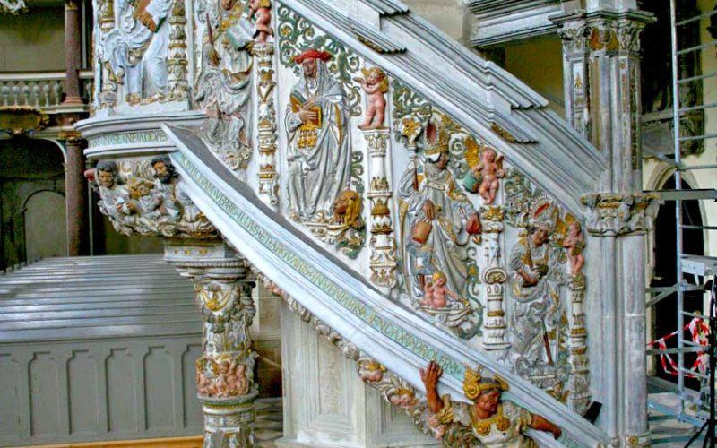 Restaurierung der Renaissancekanzel - Dom Halle (Saale)