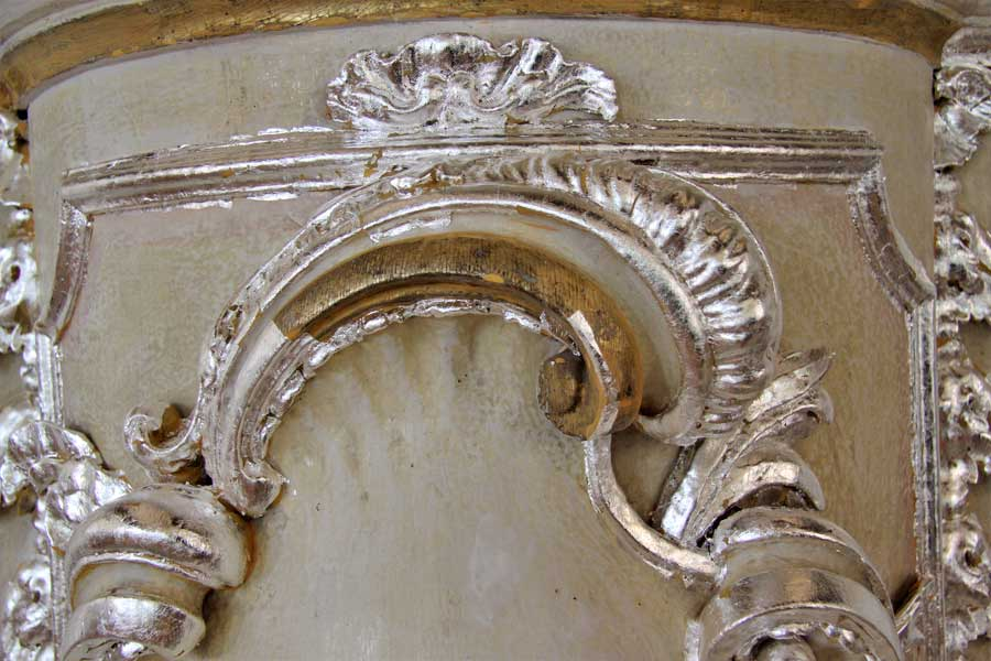 Restaurierung der barocken Kanzel - Rocaille - Dorfkirche Tucheim