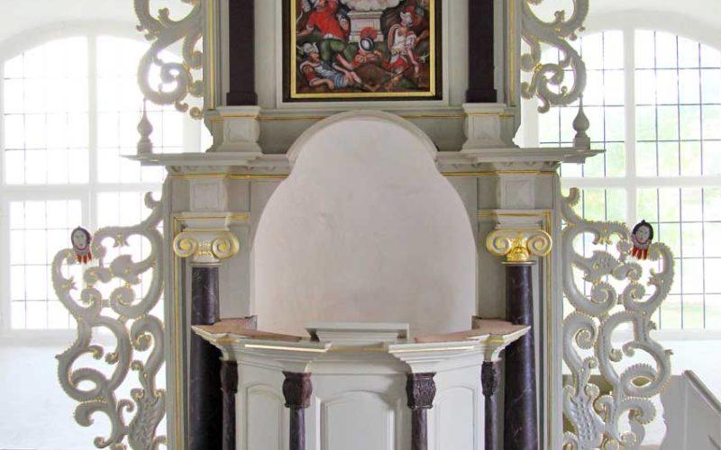 Restaurierung des barocken Kanzelaltars - Dorfkirche Berlitt