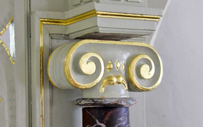 Detailansicht Säulenkapitell - Dorfkirche Berlitt