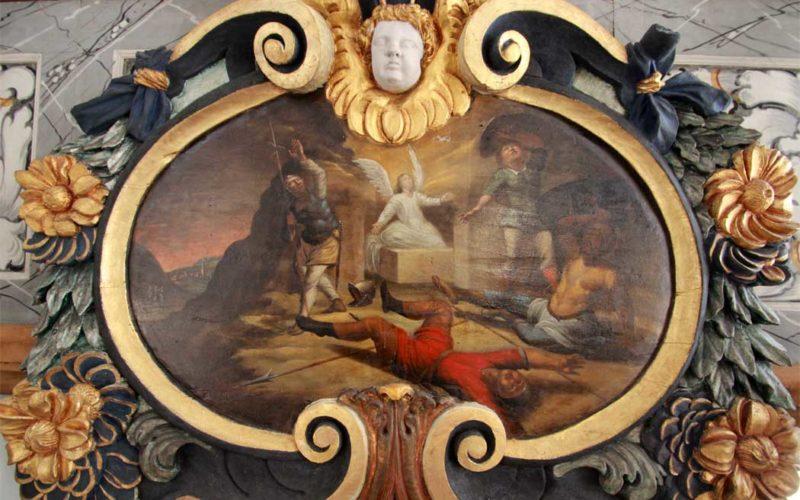 Tafelgemälde Stadtkirche Dahme - Auferstehungs-Gemälde im Endzustand