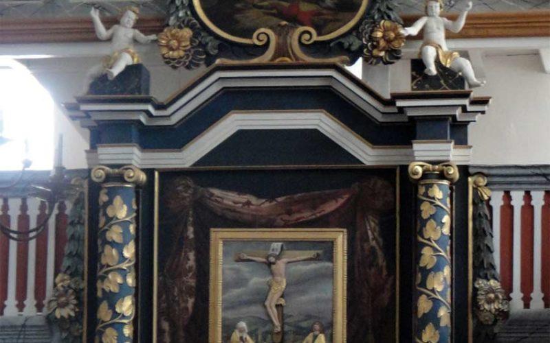Restaurierung des Barockaltars - Stadtkirche Dahme - Tafelgemälde