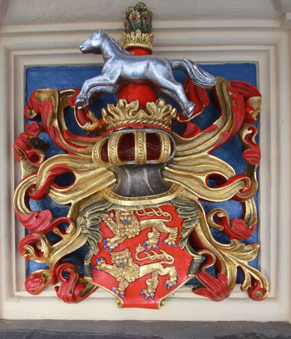 Rekonstruktion historischer Wappenfassungen - Schloss Hartenfels - Wappen Herzogtum Braunschweig