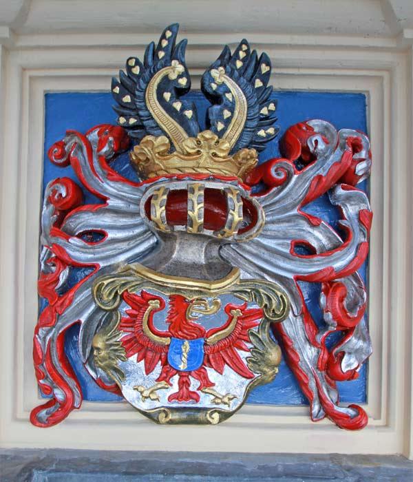 Wappengalerie - Rekonstruktion historischer Wappenfassungen - Schloss Hartenfels - Wappen Kurfürstentum Brandenburg