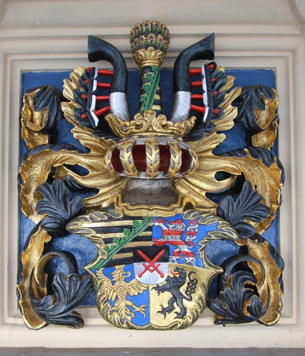 Wappengalerie - Rekonstruktion historischer Wappenfassungen - Schloss Hartenfels - Wappen Kurfürstentum Sachsen
