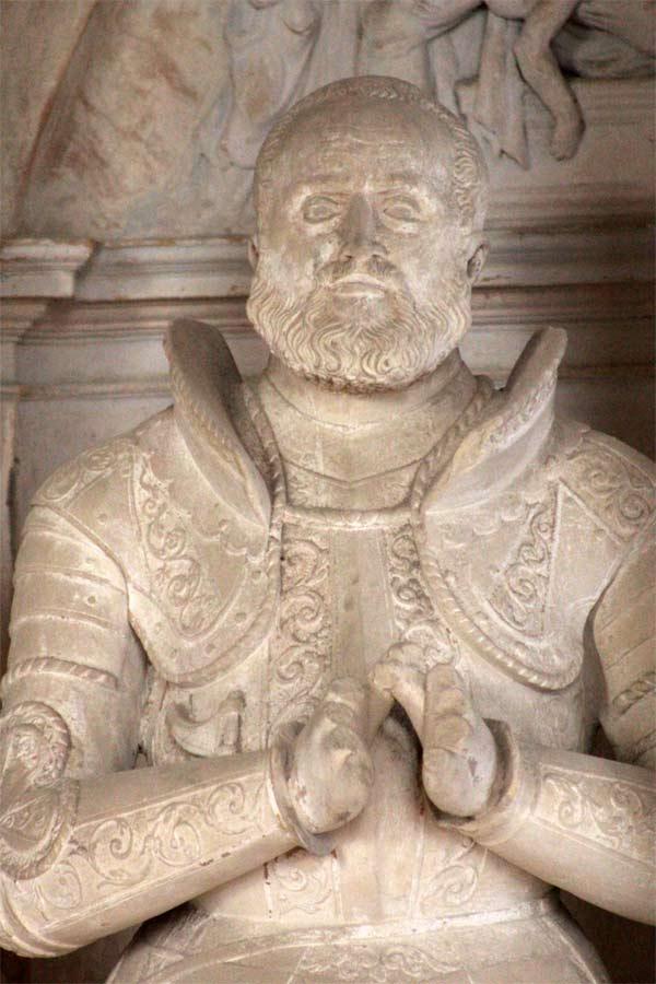 Fachplanung am Renaissance-Epitaph - Sixtuskapelle Ermsleben - Bildhauerdetails