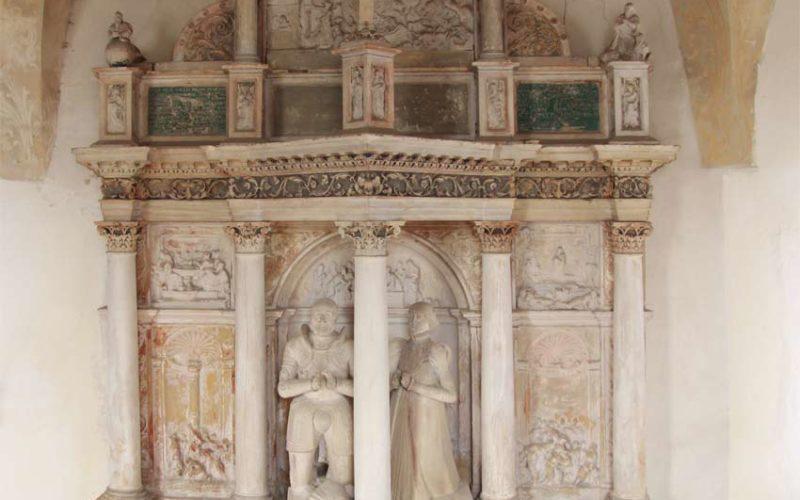 Schadenserfassung am Renaissance-Epitaph - Sixtuskapelle Ermsleben