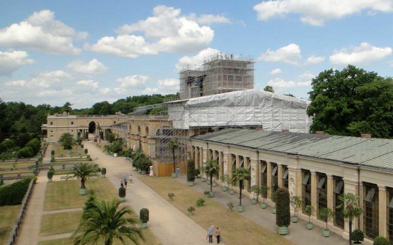 Fassadenrestaurierung von Naturstein - Orangerieschloss Park Sanssouci