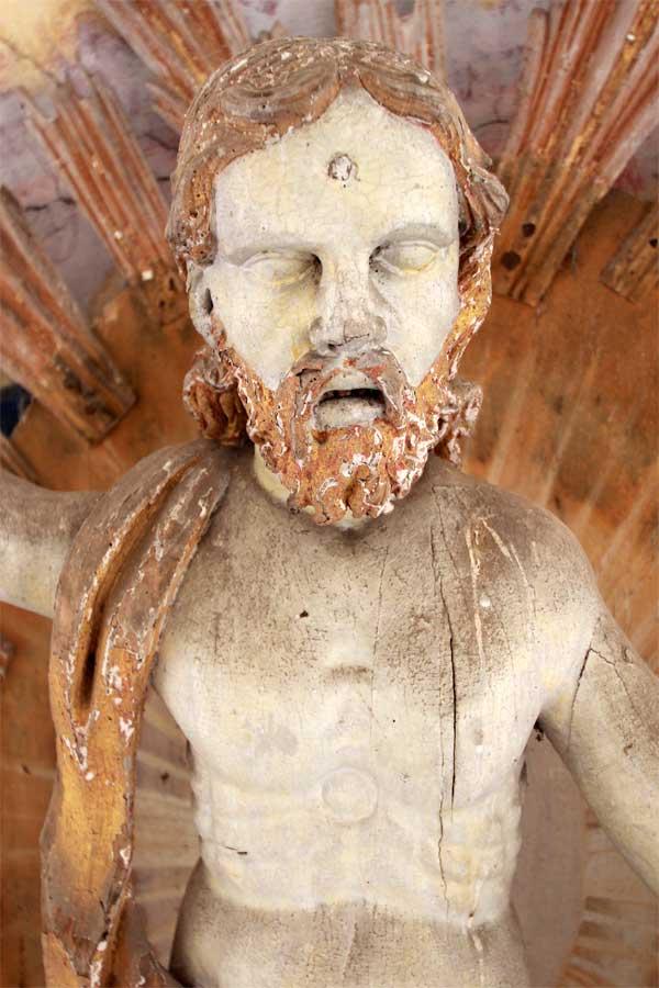 Restaurierungder Christus-Figur - Dorfkirche Altenklitsche -2