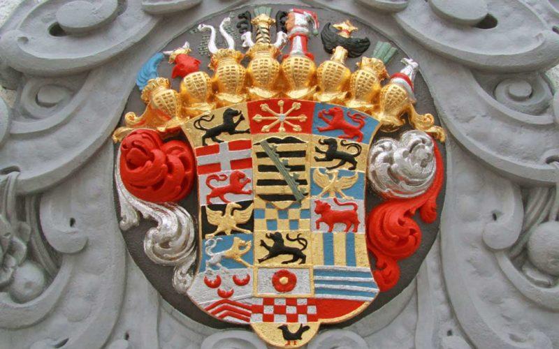 Rekonstruktion der barocken Wappenfarbigkeit - Schloss Doberlug