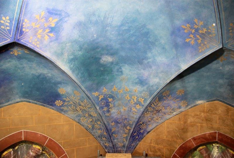 Gewölbeausmalung - Kirche Altenplathow - 02