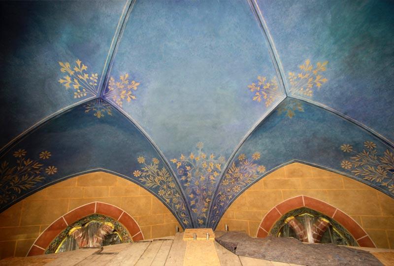 Gewölbeausmalung - Kirche Altenplathow - 01
