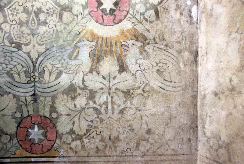 Wandteppichausmalung des Chorraums - Kirche Altenplathow -01