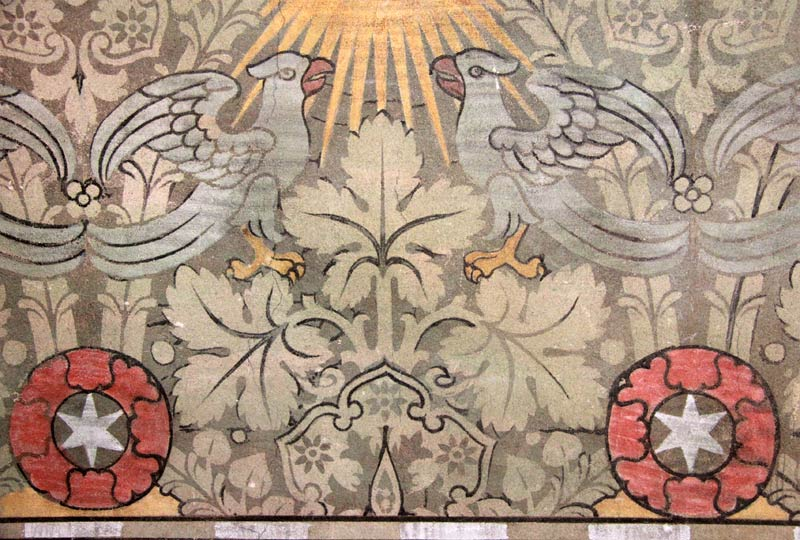 Wandteppichausmalung des Chorraums - Kirche Altenplathow -02