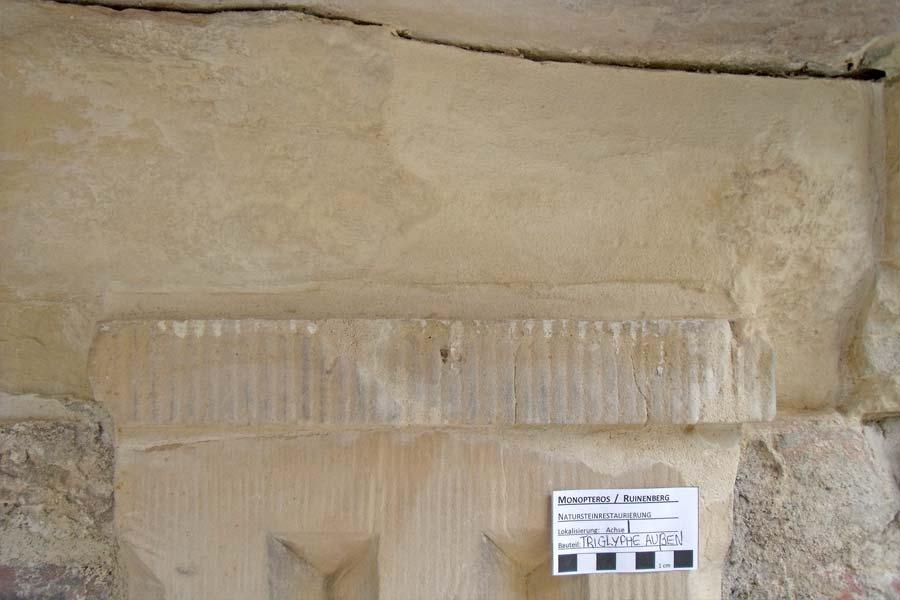 Detail KSE-Schlämme - Monopteros auf dem Ruinenberg in Sanssouci