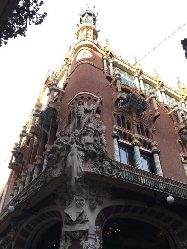 Fassadenansicht Palaus de la Música